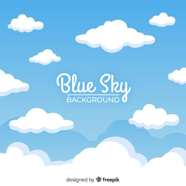 Fondo cielo azul Vector Premium