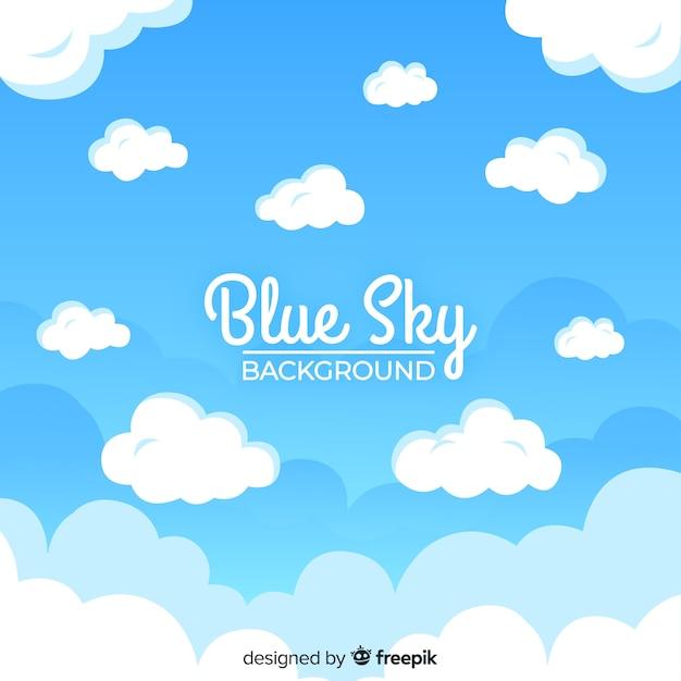Fondo cielo azul vector gratuito
