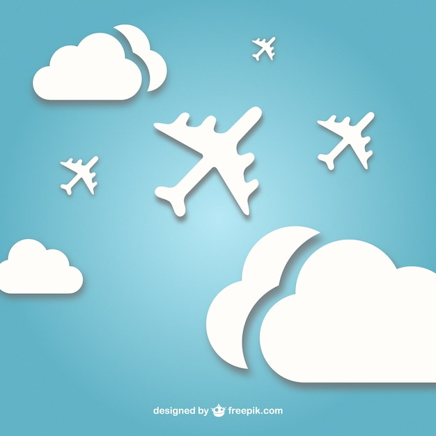 Fondo cielo con aviones descargar vectores gratis for Fondos de pantalla de aviones