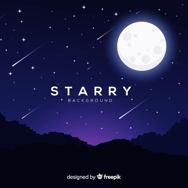 Fondo cielo nocturno vector gratuito