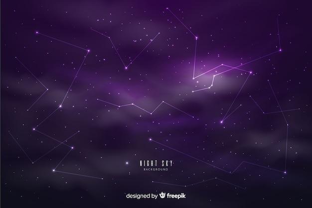 Fondo de cielo nocturno vector gratuito