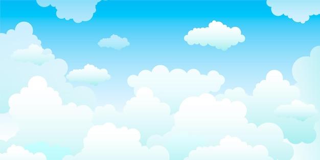 Fondo de cielo para videoconferencia vector gratuito