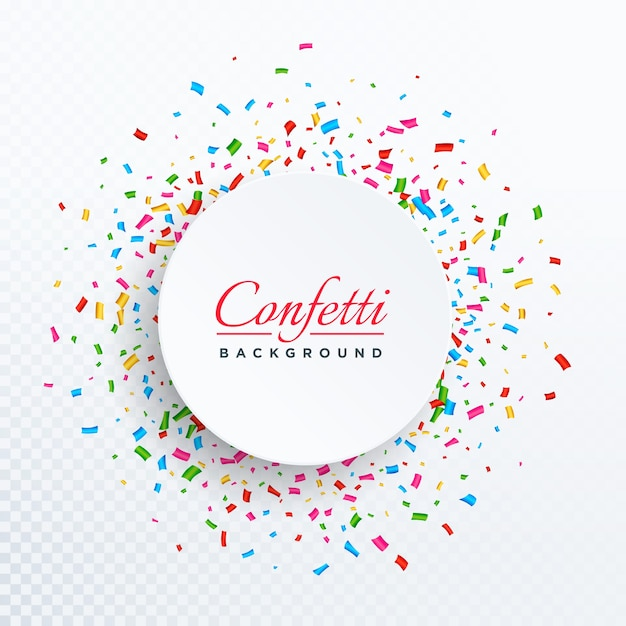 Fondo circular de confeti Vector Gratis