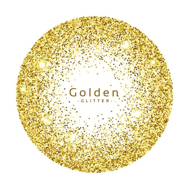 Fondo circular de resplandecer dorado vector gratuito