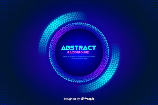 Fondo con círculos coloridos abstractos vector gratuito