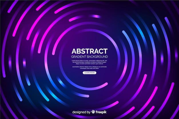 Fondo de círculos de tecnología abstracta vector gratuito