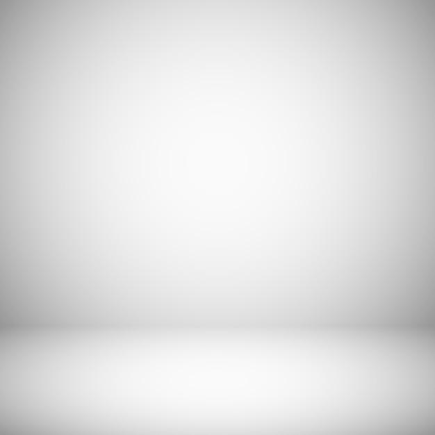 Fondo claro blanco y gris vacío Vector Premium