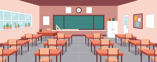 Fondo de clase de escuela vacía vector gratuito