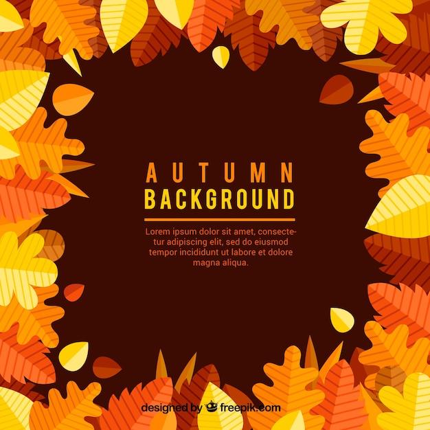 Fondo cl sico de oto o con hojas descargar vectores gratis - Descargar autumn leaves ...