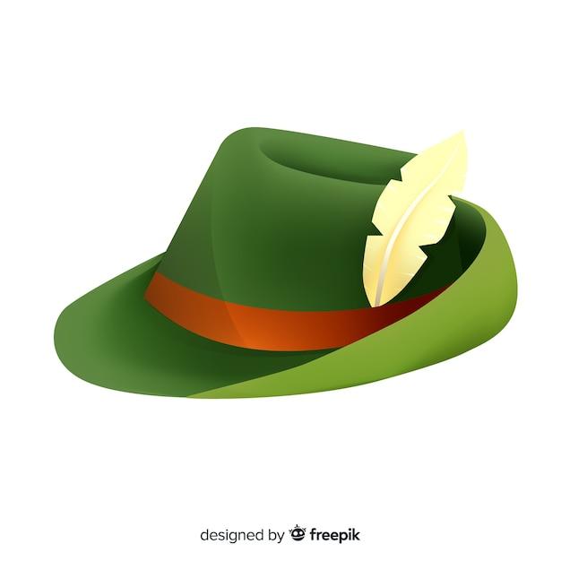 Fondo con clásico sombrero tirolés de oktoberfest  5d7724c6d88b