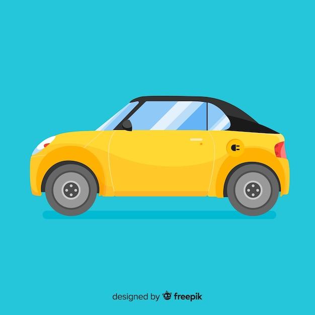 Fondo coche eléctrico vector gratuito