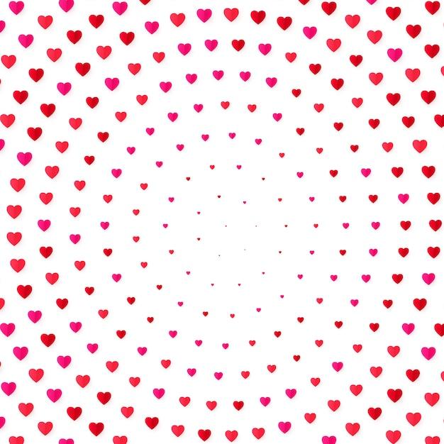 Fondo de color de semitono de corazón. tarjeta de invitación de san valentín y matrimonio, romance y amor. ilustración Vector Premium