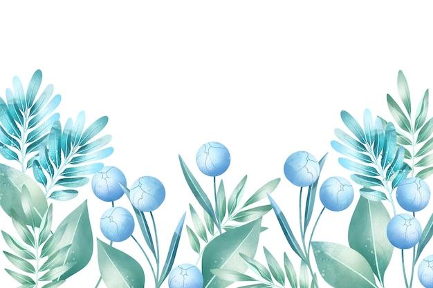 Fondo colores pastel acuarela flores vector gratuito
