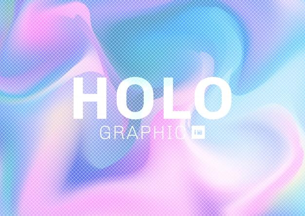 Fondo de colores pastel holográficos Vector Premium