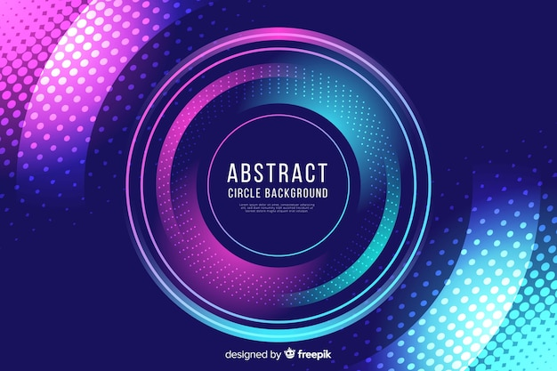 Fondo colorido abstracto de círculos y puntos vector gratuito