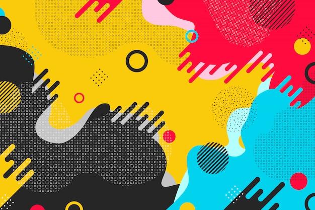 Fondo colorido abstracto del diseño de la forma del modelo. Vector Premium