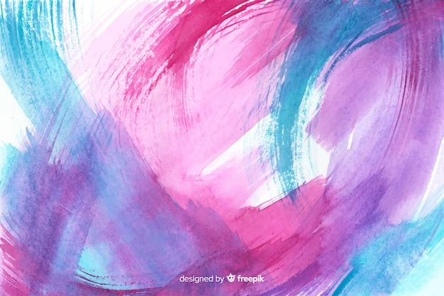Fondo colorido de acuarela pintado a mano vector gratuito