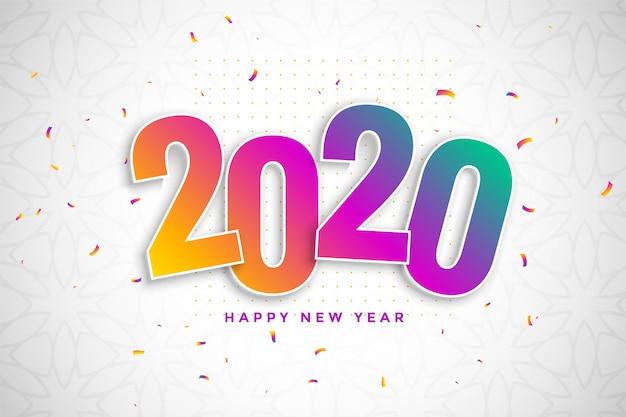 Fondo colorido año nuevo en estilo 3d con confeti vector gratuito