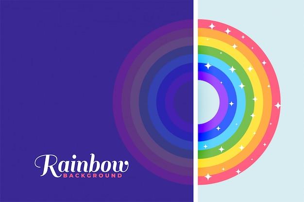 Fondo colorido arco iris con estrellas brillantes vector gratuito