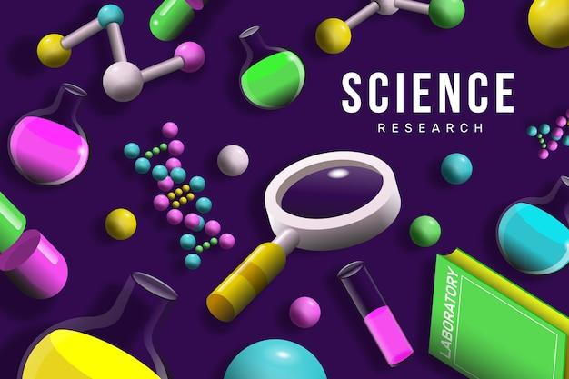 Fondo colorido ciencia realista vector gratuito