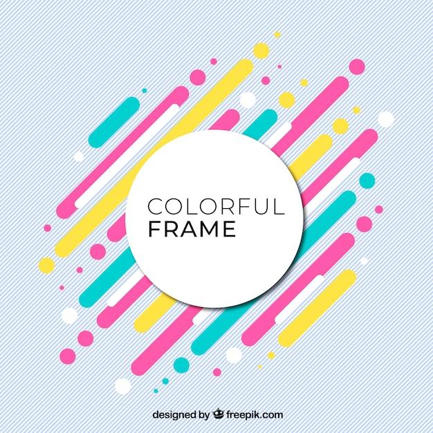 Fondo colorido con marco | Descargar Vectores gratis