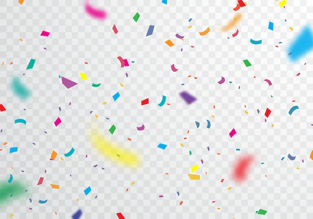 Fondo colorido confeti para celebraciones festivas Vector Premium