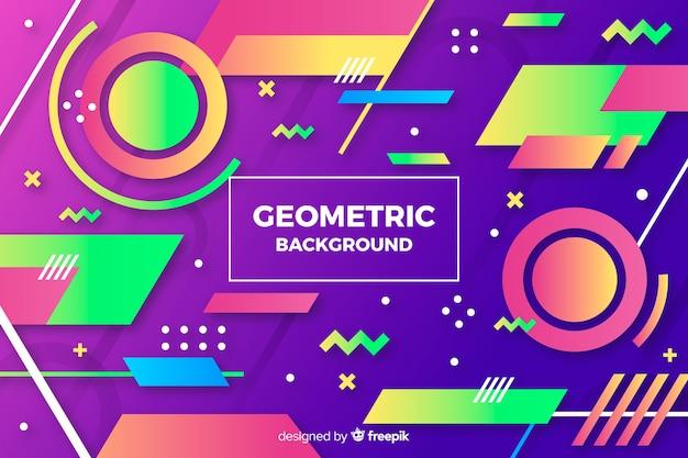 Fondo colorido degradado de formas geométricas vector gratuito