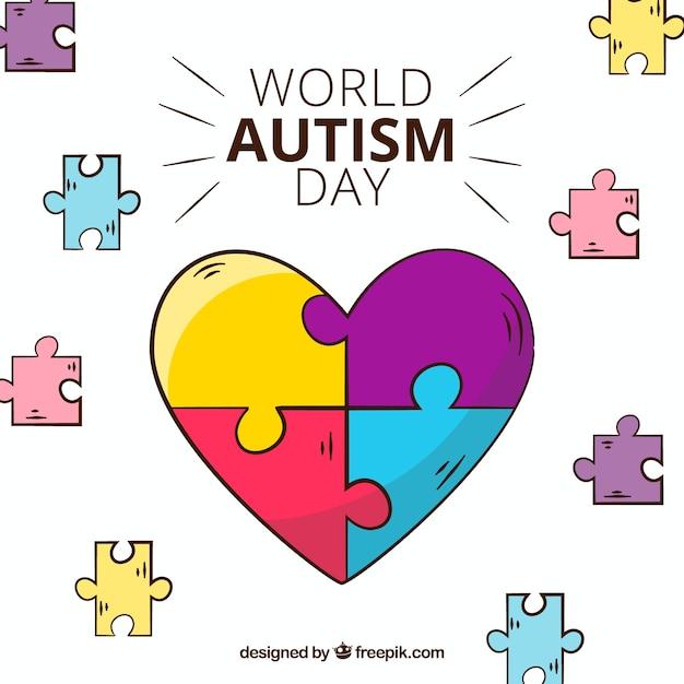 Fondo colorido del día mundial del autismo vector gratuito