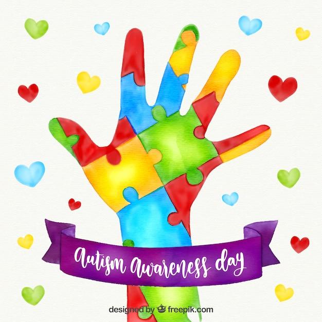 Fondo Colorido Del Día Mundial Del Autismo Vector Gratis
