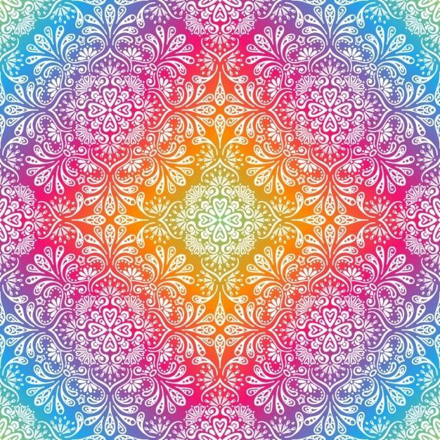 Fondo Colorido Con Dibujos De Flores Y Hojas Descargar Vectores Gratis
