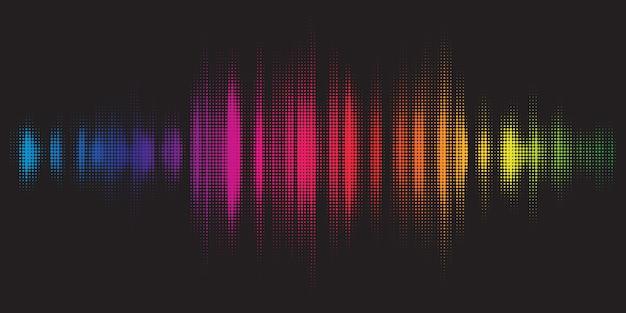 Fondo colorido con diseño de ecualizador gráfico vector gratuito