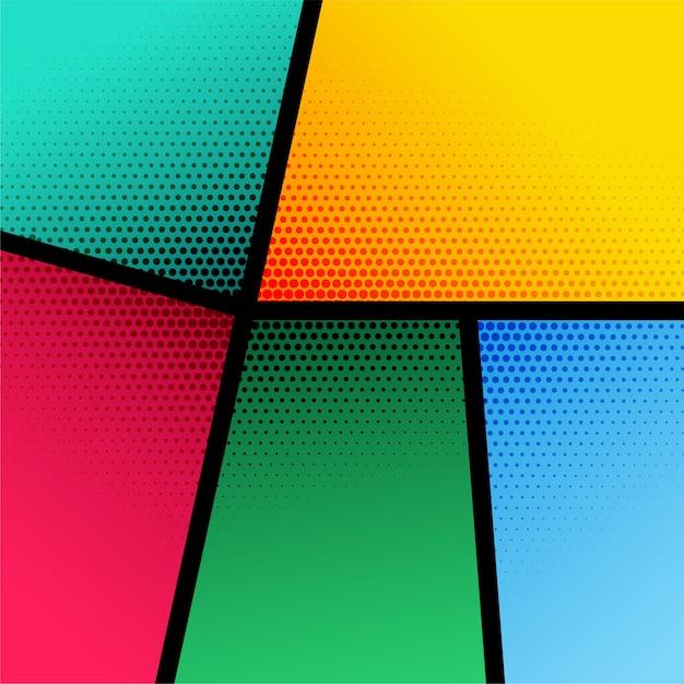 Fondo colorido con efecto de semitono vector gratuito