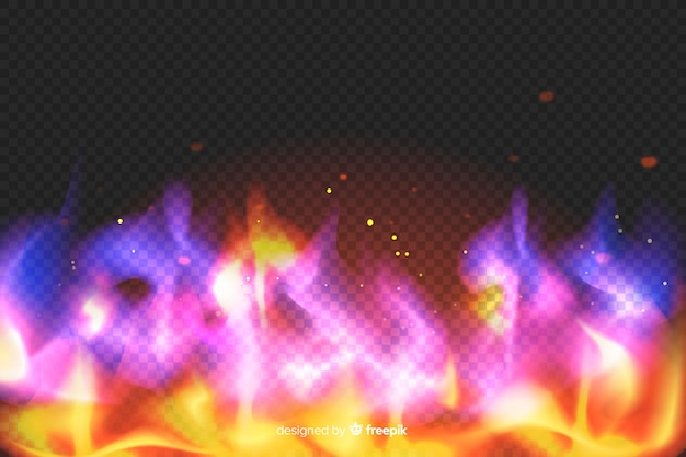 Fondo colorido flamy realista vector gratuito