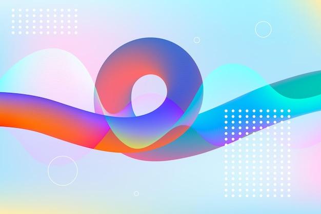 Fondo colorido flujo vector gratuito