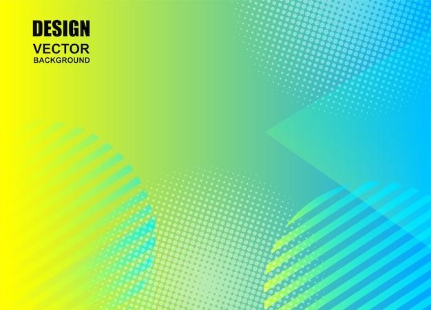Fondo colorido de formas geométricas Vector Premium