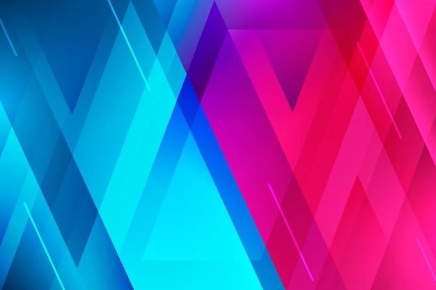 Fondo colorido de formas superpuestas vector gratuito