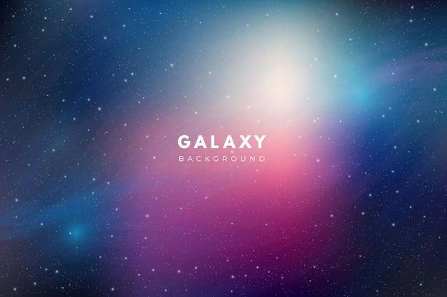 Fondo colorido de la galaxia vector gratuito