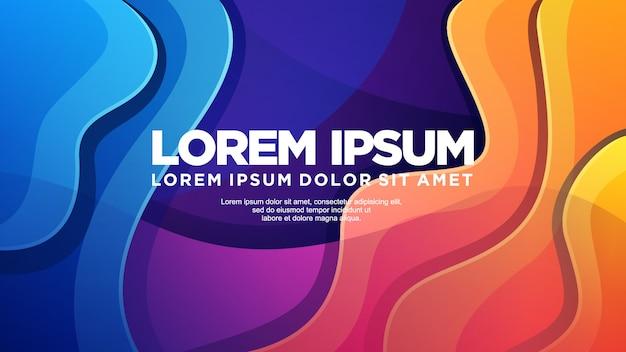 Fondo colorido moderno Vector Premium