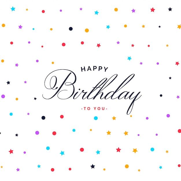 Fondo colorido patrón de feliz cumpleaños vector gratuito