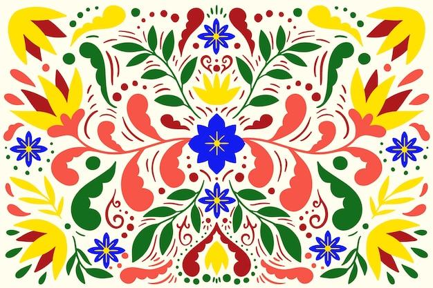 Fondo colorido plano mexicano vector gratuito