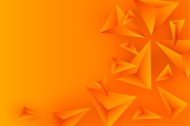 Fondo colorido con triángulos 3d vector gratuito