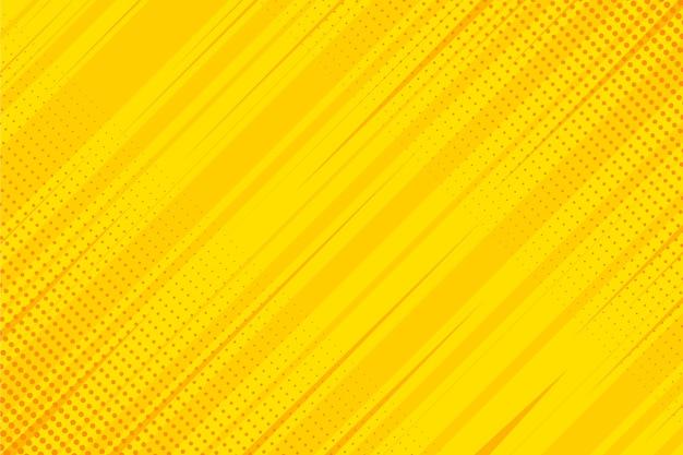 Fondo de cómic amarillo de diseño plano vector gratuito