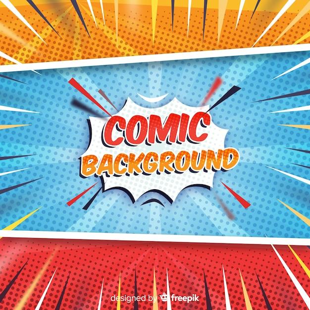 Fondo comic halftone vector gratuito