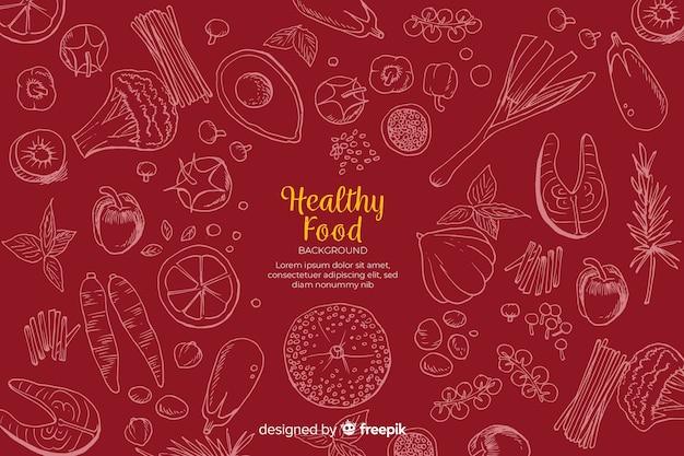 Fondo de comida saludable vector gratuito