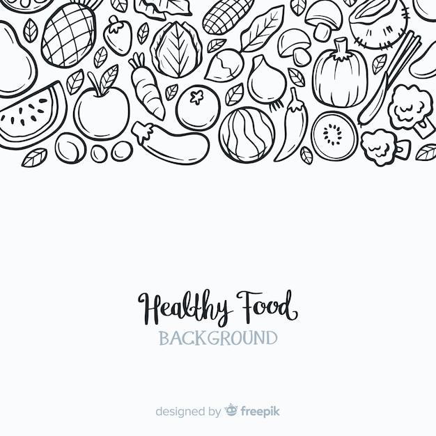 Fondo de comida sana vector gratuito