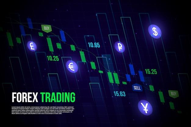 Fondo de compraventa de divisas vector gratuito