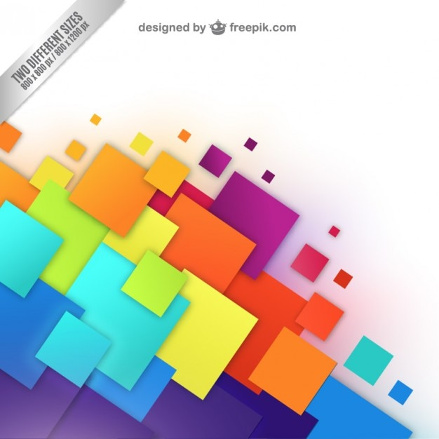 Fondo con cuadrados de colores descargar vectores gratis - Cuadros de colores ...