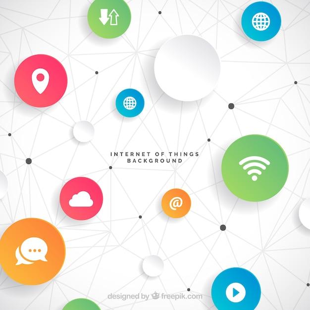 Fondo con diseño de internet de las cosas Vector Gratis