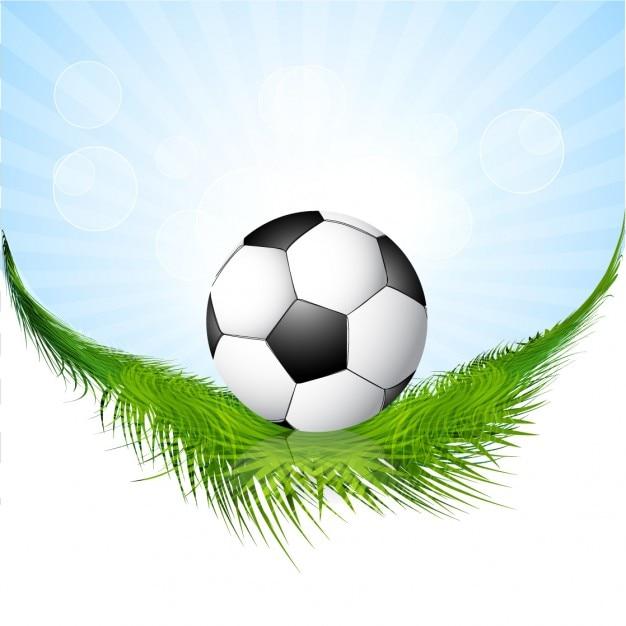 Fondo con el bal n de f tbol sobre c sped descargar for Fondos de futbol