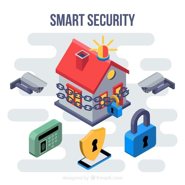 Fondo con elementos de seguridad para casa descargar - Seguridad en tu casa ...